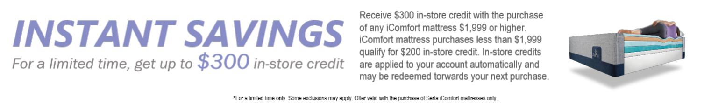 iComfort Instant Rebate